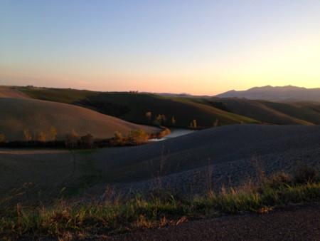 Paesaggio in provincia di Pisa tra Villamagna a La Sterza