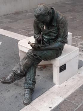 statua di Jacovitti a Termoli