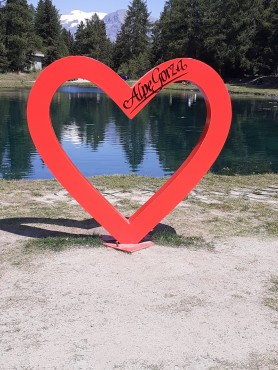 Alpe lago Gordzà cuore